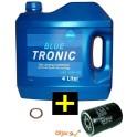 KPL ARAL BLUE TRONIC 10W40 4L+ČISTILEC OLJA +PODLOŽKA